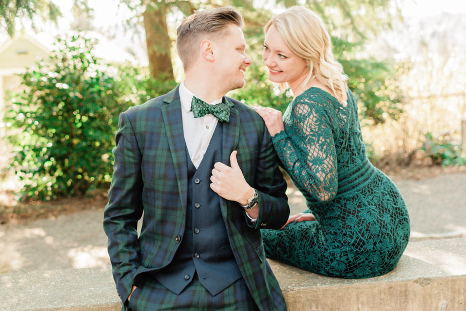 Seattle Park Engagement Session Lace Gown Suit and Tie Formal CServinPhotographs Winter-14.jpg