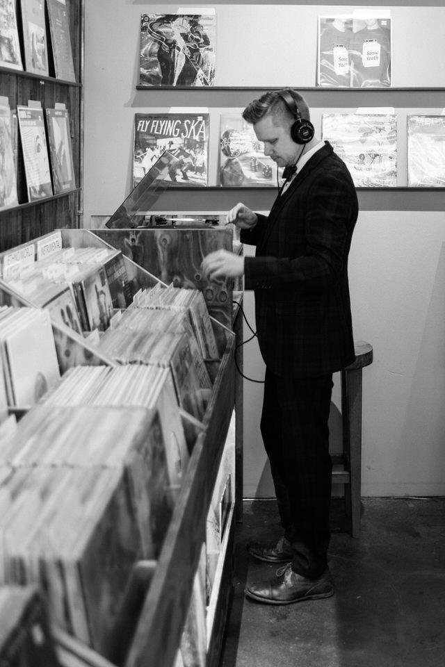 Seattle Fremont Engagement Session CServinPhotographs Film Daybreak Records Vintage Old School Record Shop Session-6.jpg