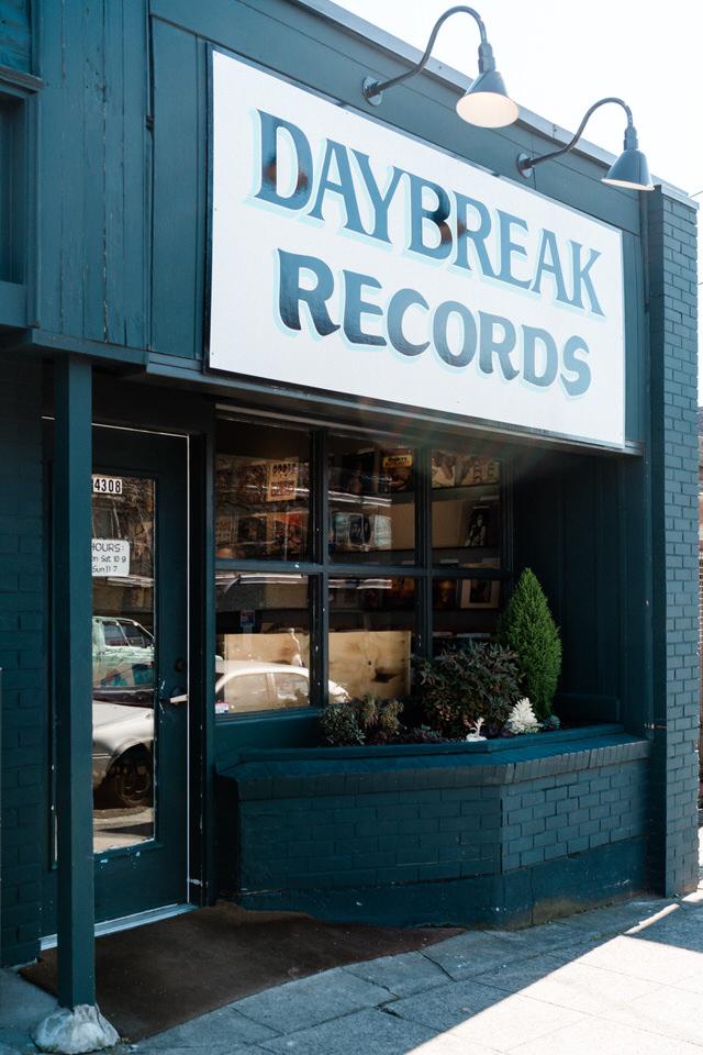 Seattle Fremont Engagement Session CServinPhotographs Film Daybreak Records Vintage Old School Record Shop Session-25.jpg