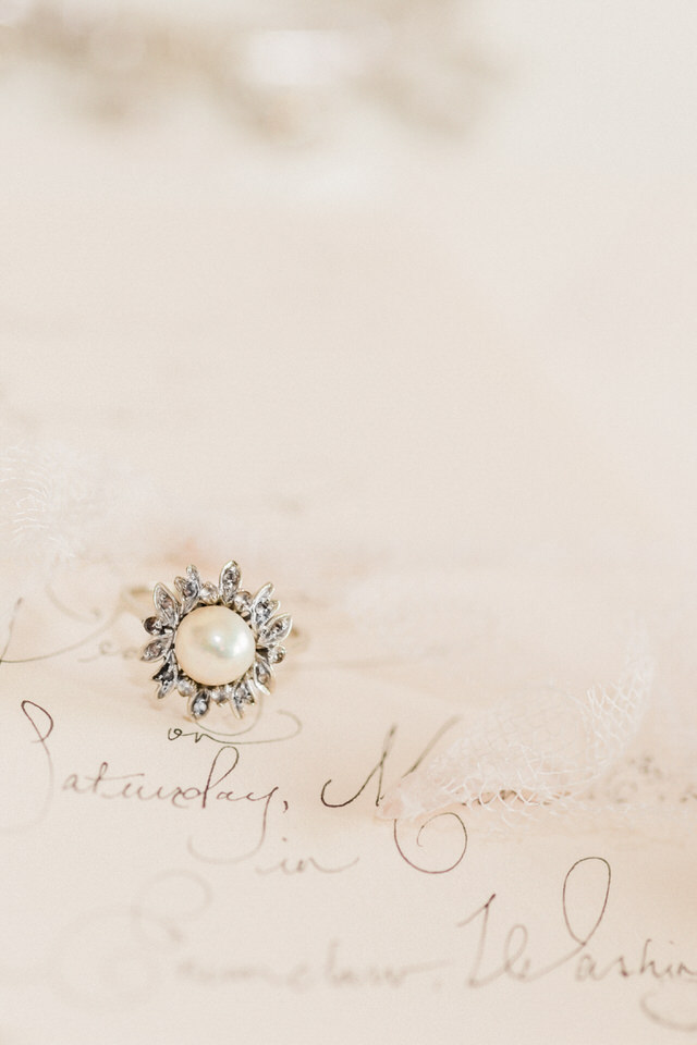 Vintage Pearl and Diamond Ring Wedding Jewelry Christina Servin Photographs Seattle-1.jpg