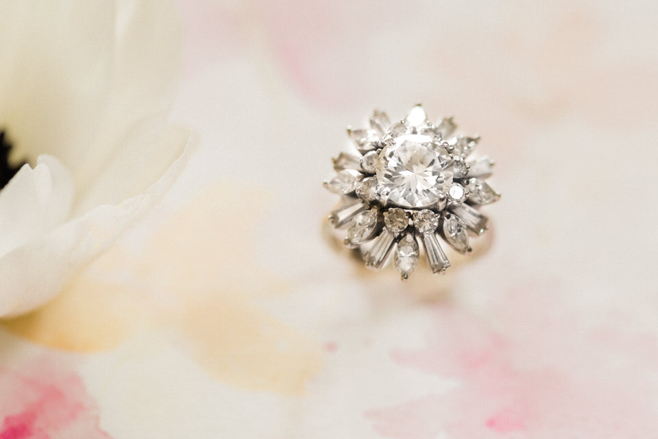 Vintage Diamond Engagement Ring Flower Round Center Cluster CServinPhotographs-1.jpg