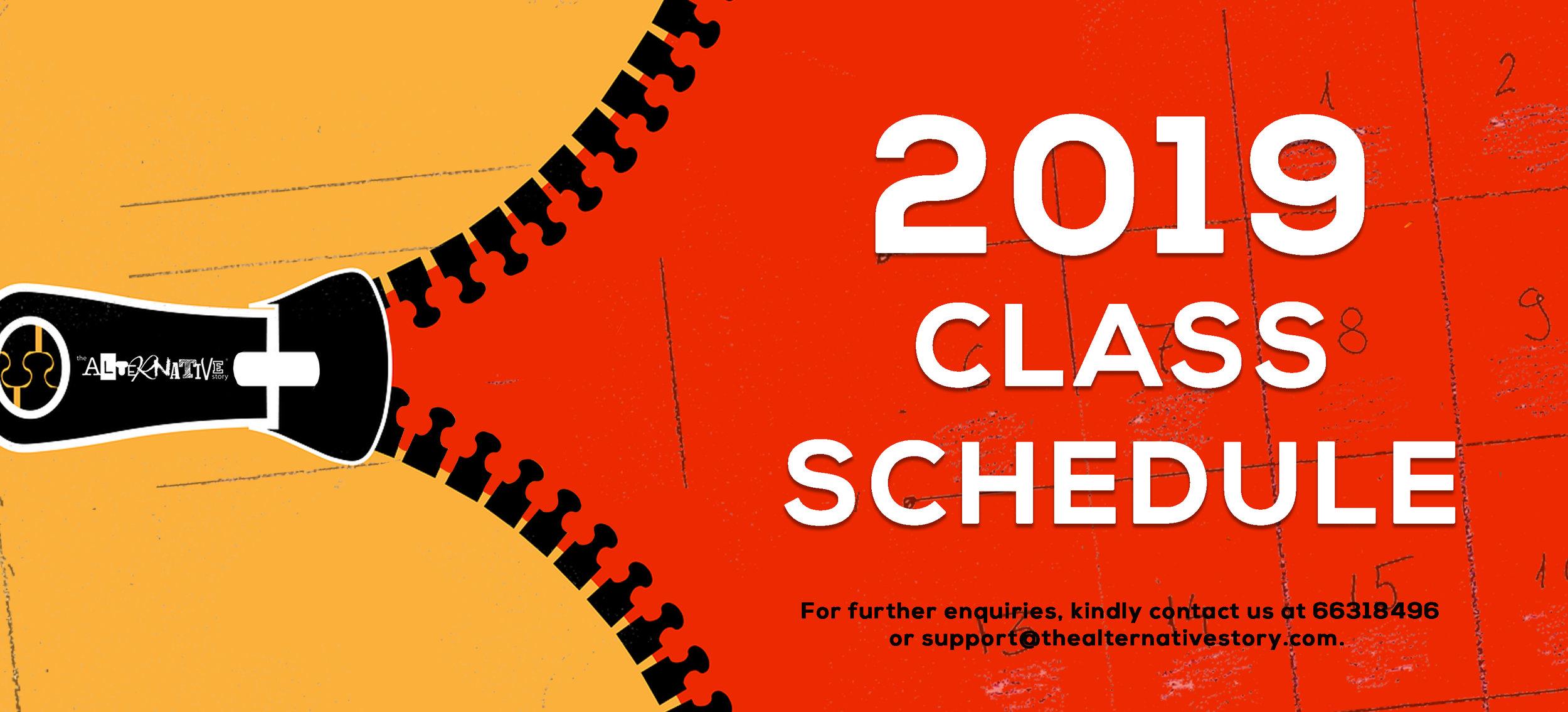 TAS 2019 Class Schedule