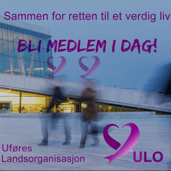 Du kan melde deg inn i Uføres Landsorganisasjon ULO, her.