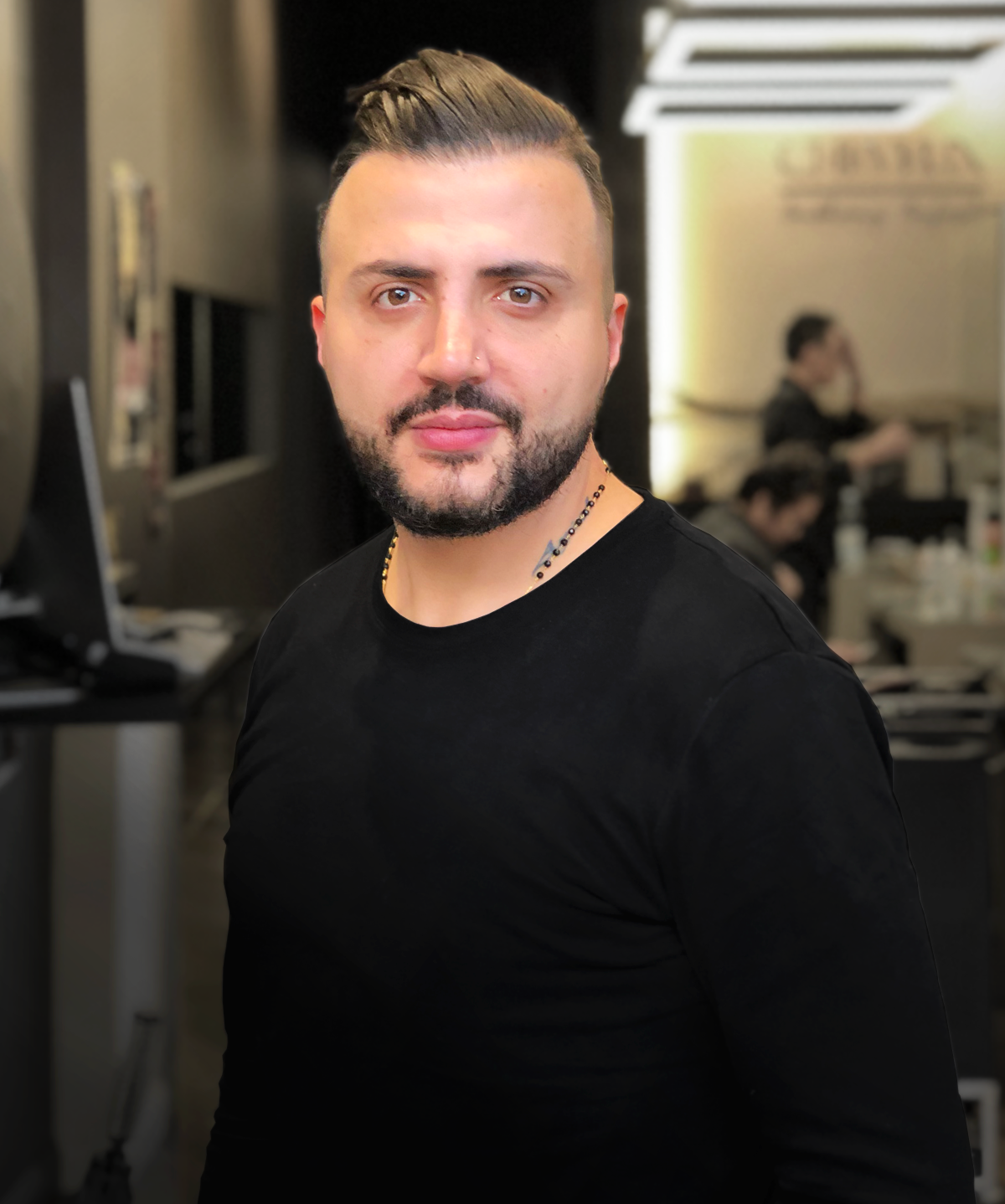 ANTHONY, Salon owner & Principal  Anthony Anjoul's 22 years of experience has helped him master the art of contemporary hair style, colour and style cuts. His passion have been a great draw card for all types of clients. He along with his salon have lead the way in winning Best Salon of Parramatta two years straight (2016 & 2017) and runner up again in 2018.