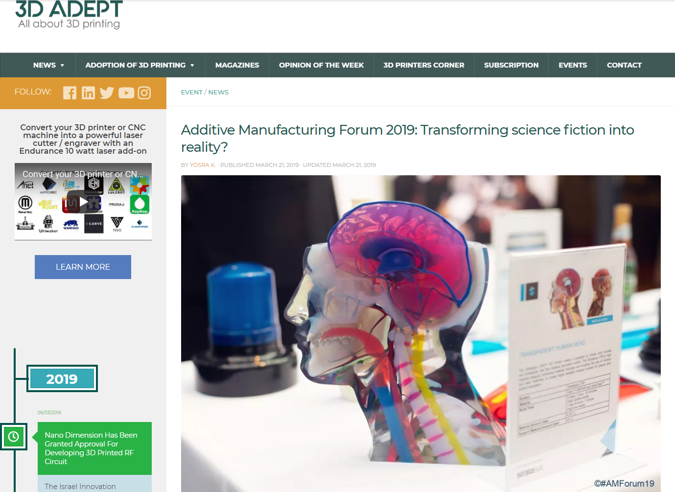 Transforming science into reality? - Additive Manufacturing Forum has been initiated by Airbus, Deutsche Bahn, Stratasys, 3yourmind and Mobility goes Additive. The European conference and exhibition that took place last week on March 14th and 15th aimed at connecting players of the industry with OEMs and other companies that might…