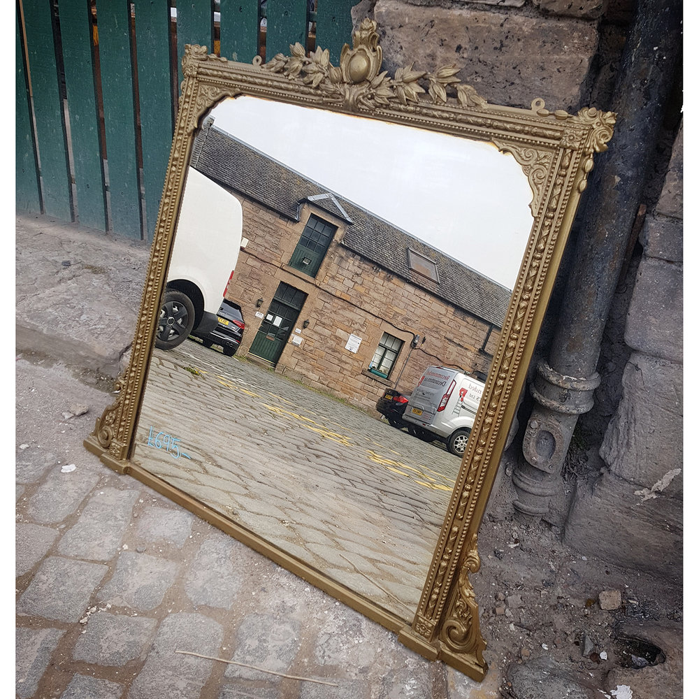 Antique Overmantle Mirror 1615 — Holyrood Architectural Salvage