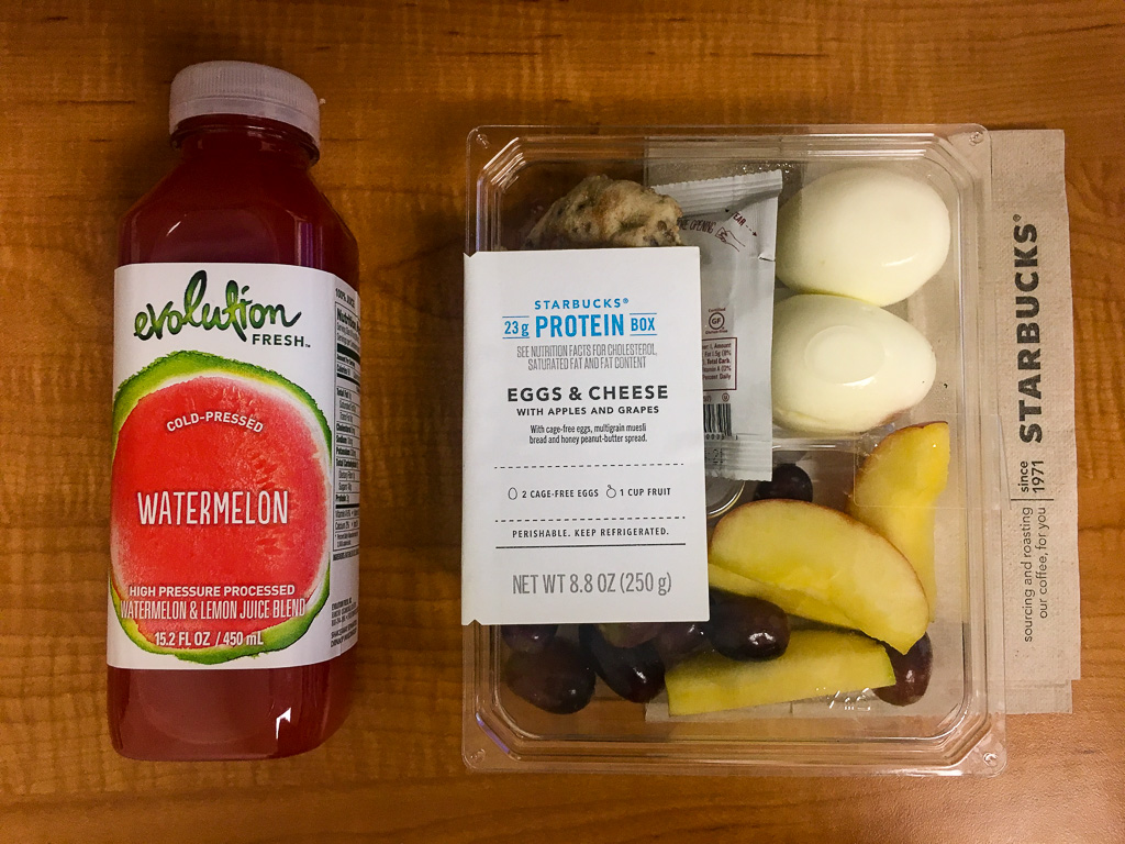 STARBUCKS PROTEIN BOX - Egg & Cheese, w/ Apples and Grapes