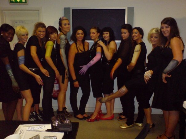 At my basic training in London. The unbelievably talented Carly Colley introduced us to body painting