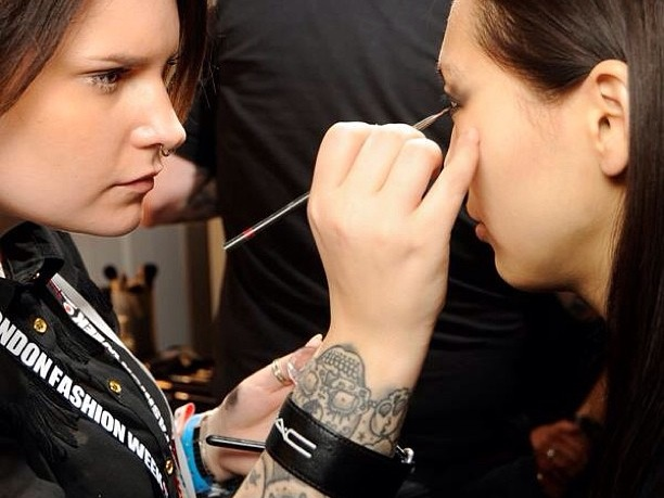 Working backstage at fashion week the ultimate concentration