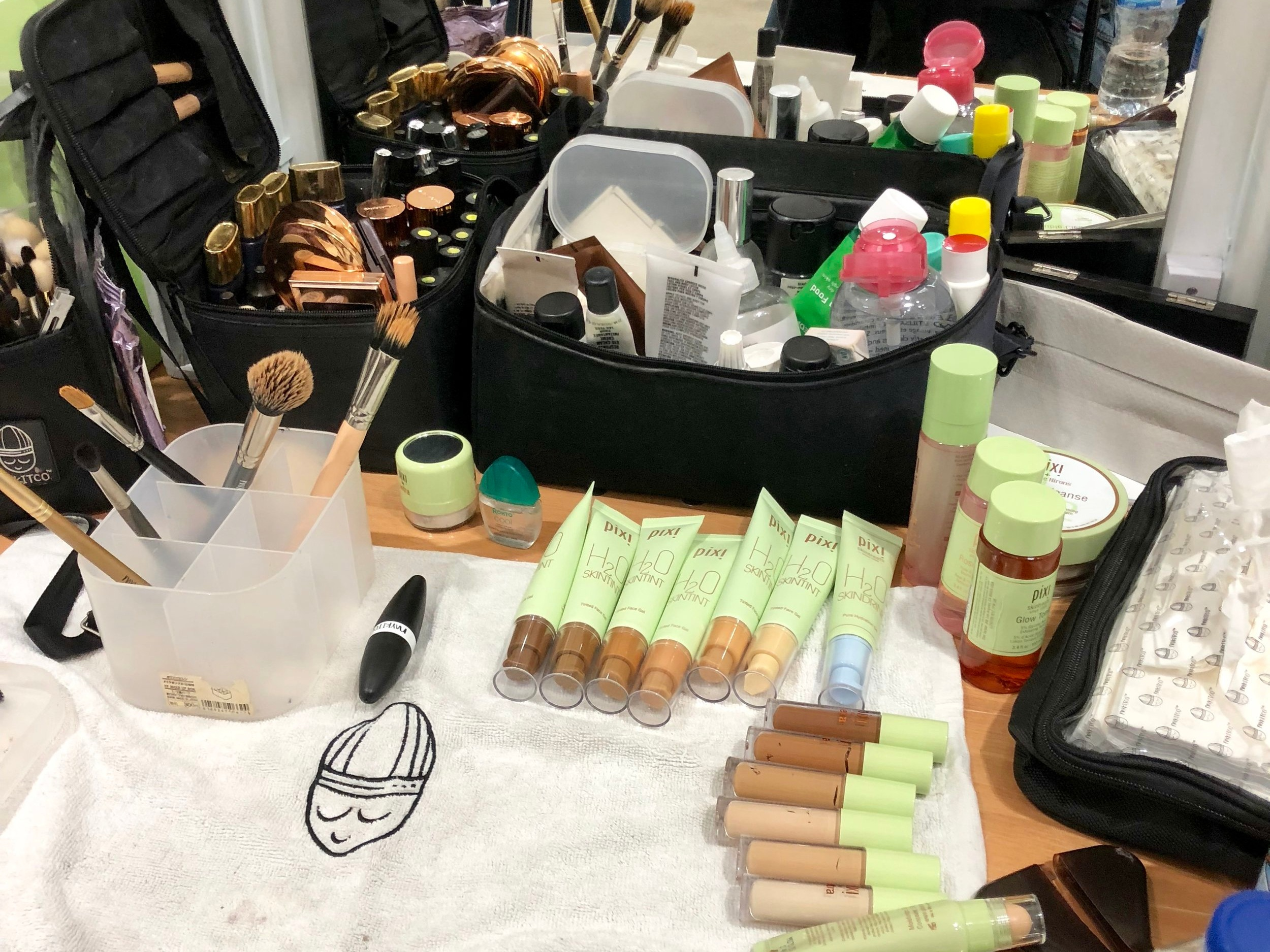 Louise Gray backstage workstation