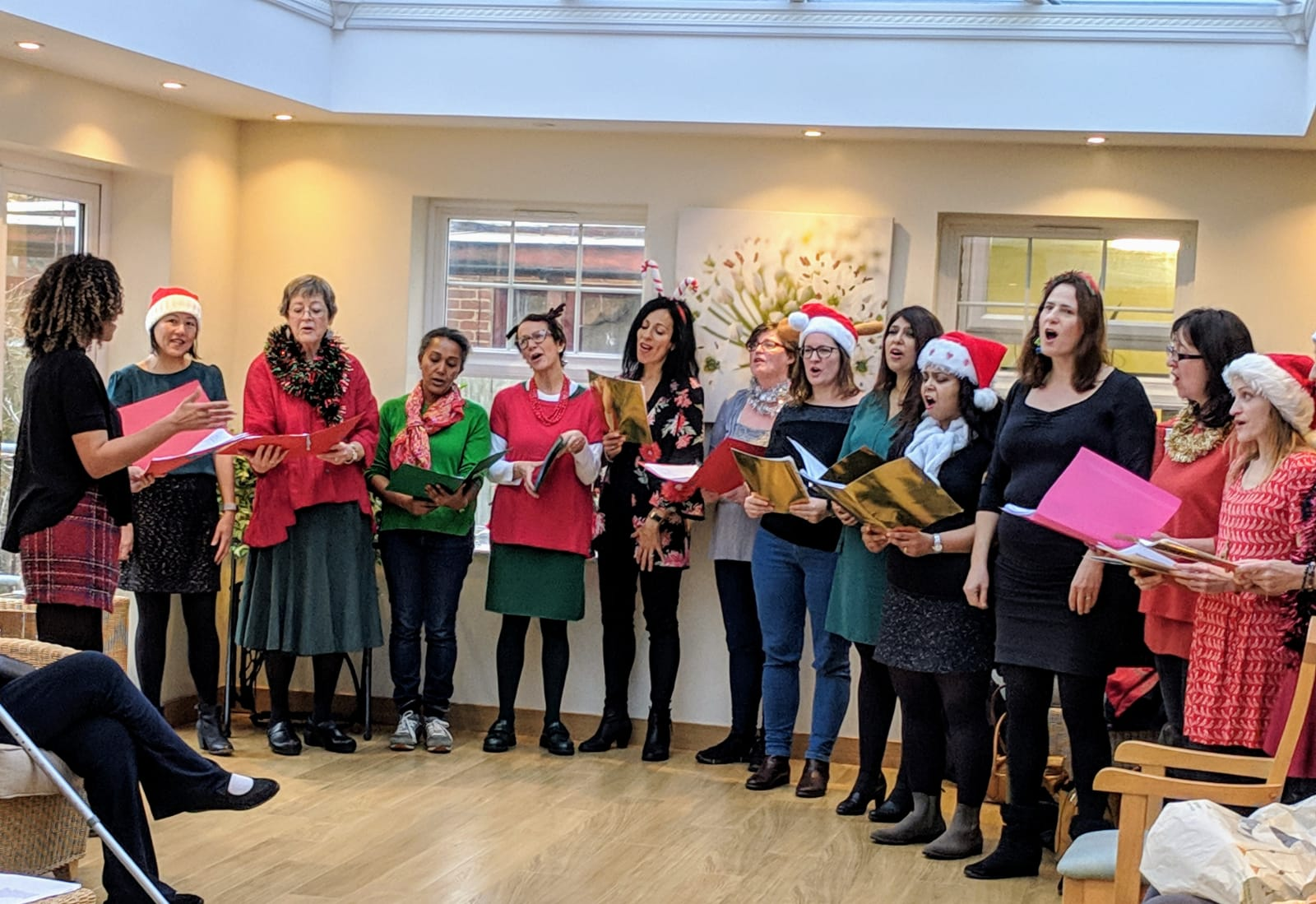Singing for the Residents of Dalemead Residential Care Home