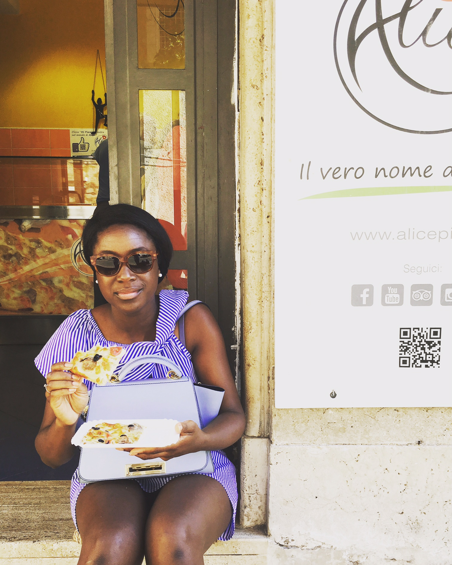 Doing Italy - Thea at Alice Pizza - Rome.JPG