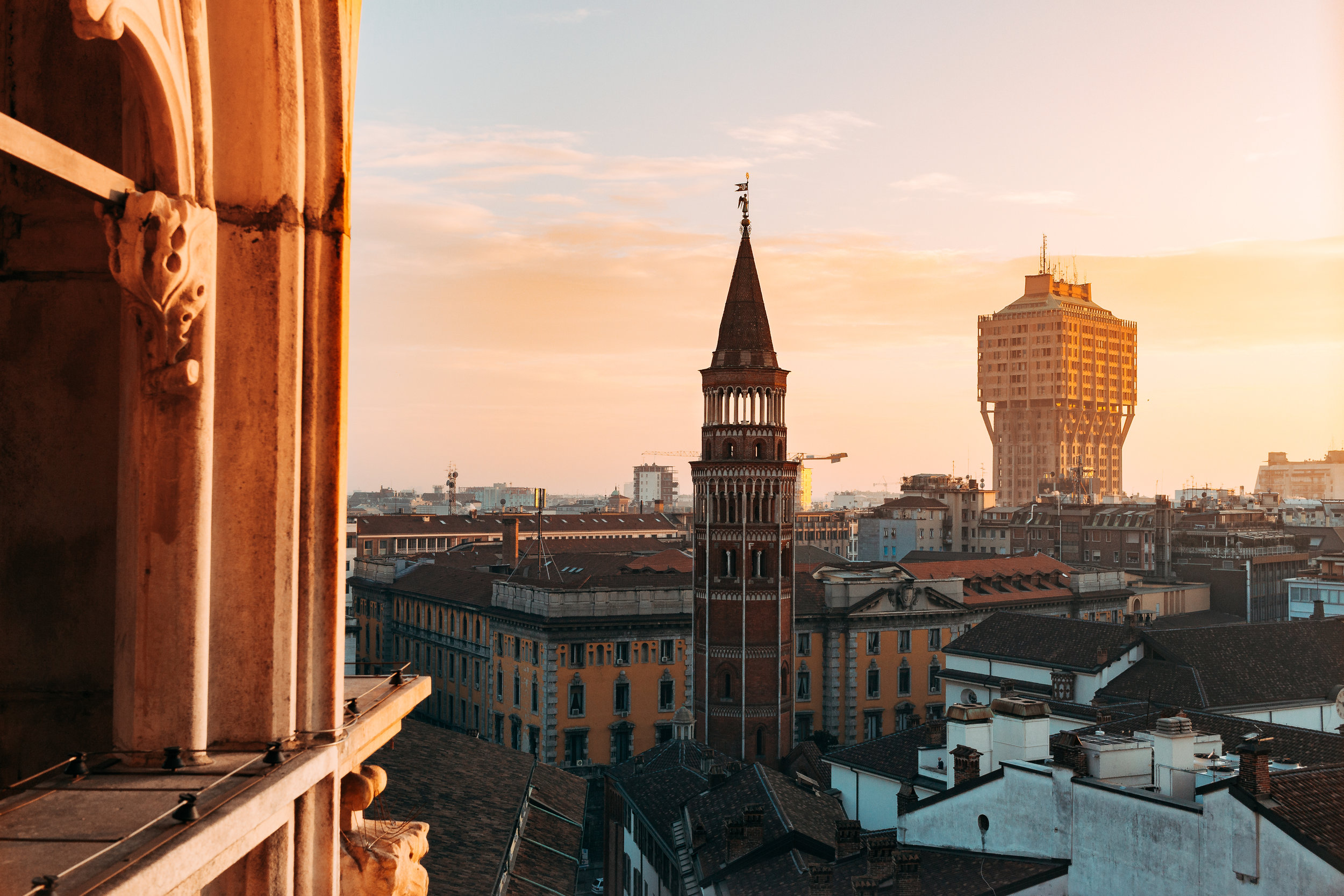 Milan from above