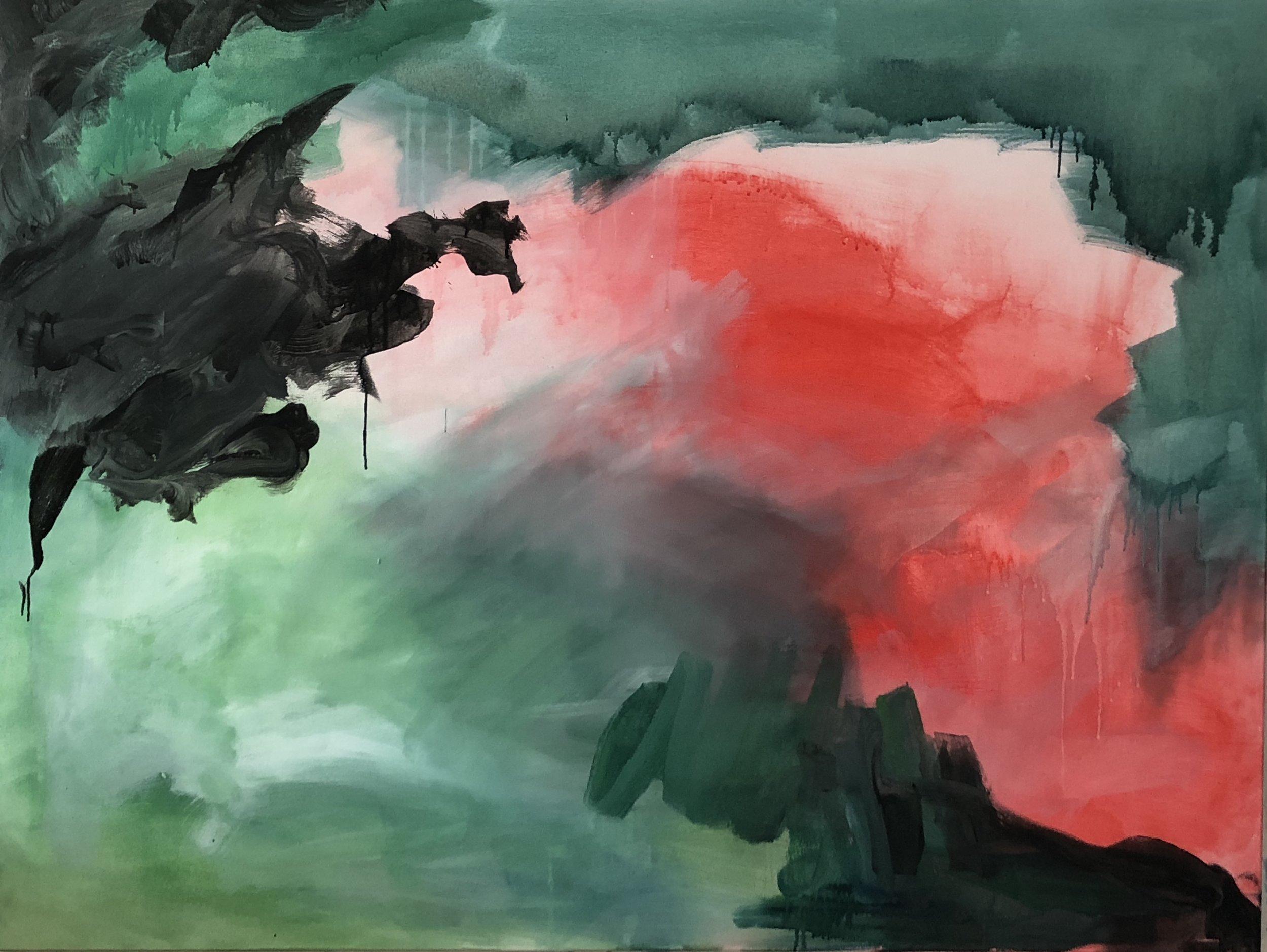 Untitled, 145cm x 100cm, Acrylic on canvas