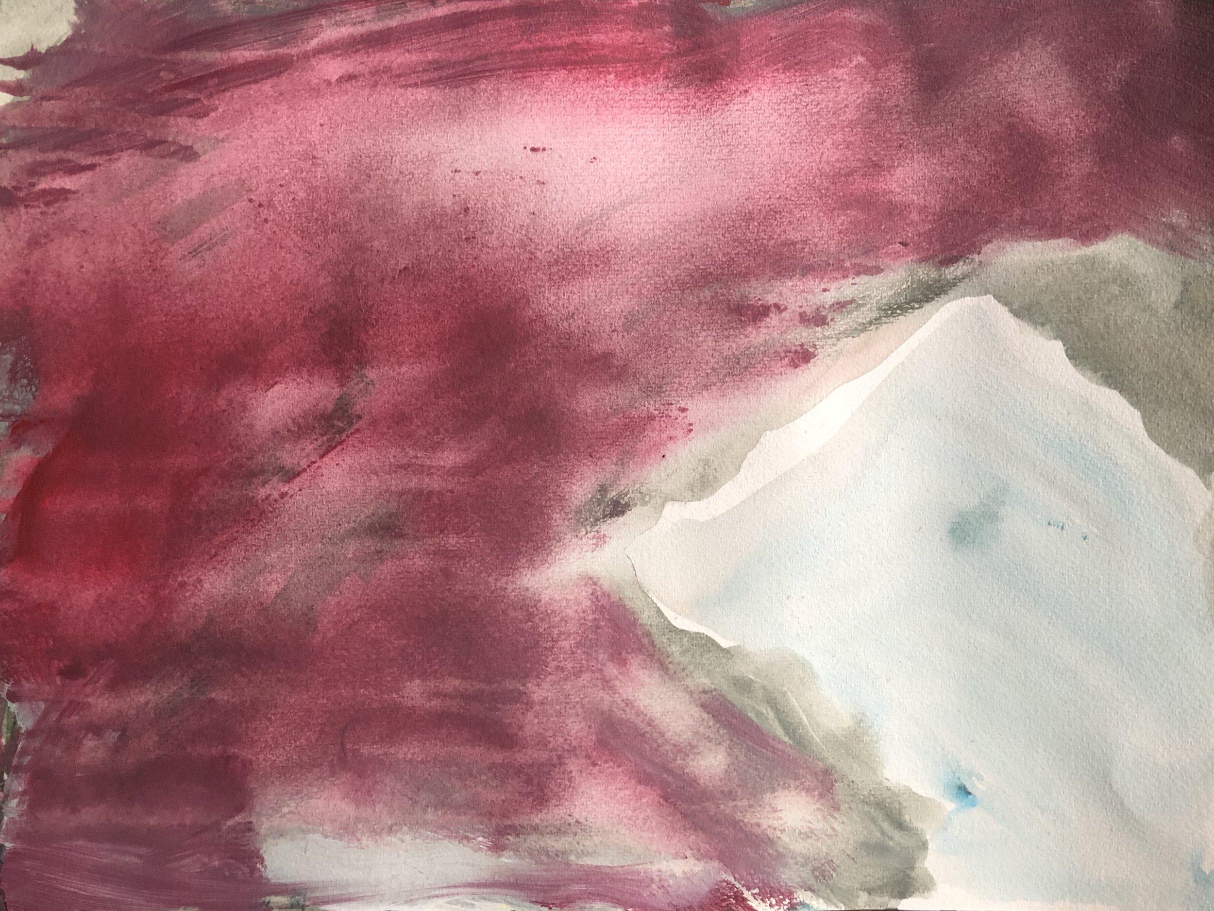 Untitled, 45cm x 25cm, Acrylic on paper