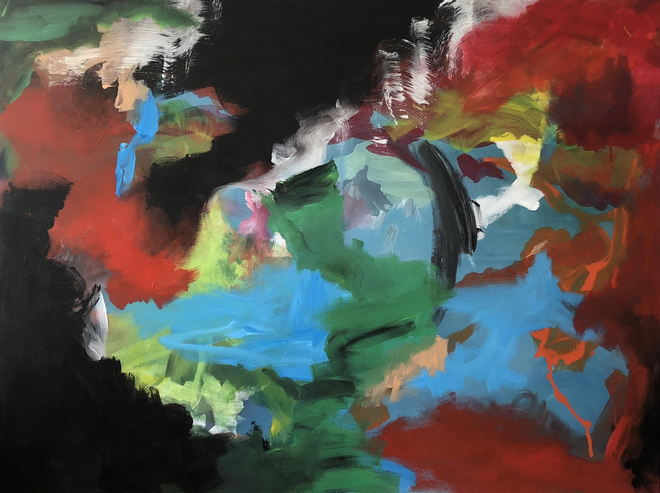 Untitled, 145cm x100cm, Acrylic on canvas