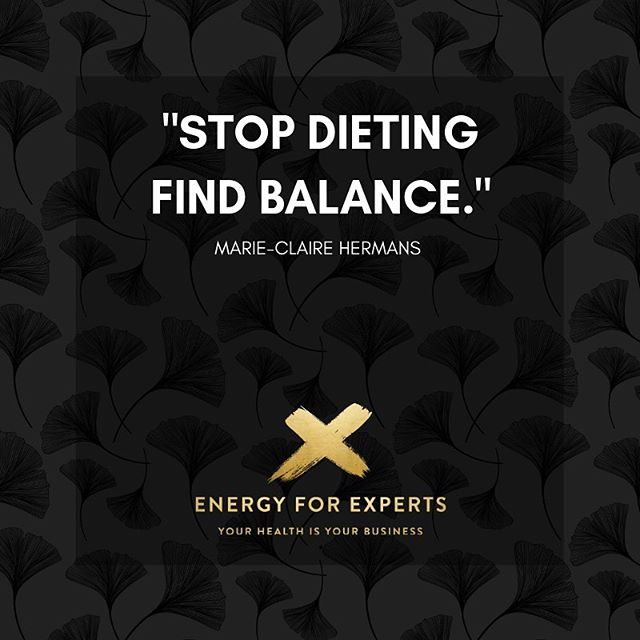 """Losing weight has nothing to do with dieting, but everything with finding balance."" Marie-Claire Hermans  Simply because food is the symptom, not the cause of your struggles.  Can you see that? 👇"