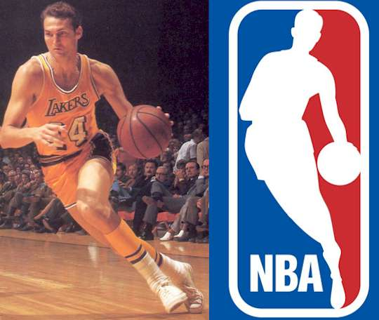 Photo of Jerry West that inspired the NBA logo:  Logo My Way