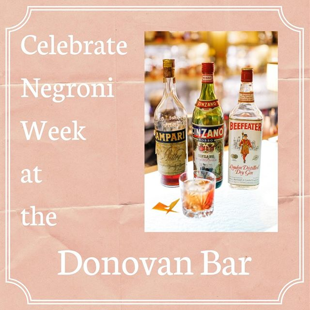 This week is #NegroniWeek and where better to celebrate than at the glamorous and sophisticated Donovan Bar in @Brownshotel? Bar consultant and world renowned drinks maestro Salvatore Calabrese - @cocktailmaestro - has a HUGE collection of vintage spirits which he crafts into incredible cocktails, including the best Negroni you'll ever taste! Don't believe us? Try it for yourself!