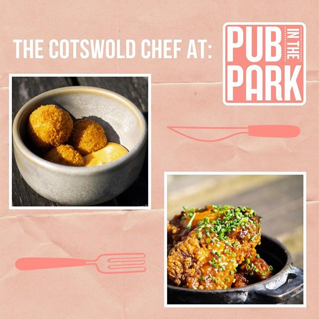 If you're heading to Pub in the Park Warwick this weekend make sure you pop along to see The Cotswold Chef Nick Deverell-Smith in action – cooking up lobster arancini, @churchillarms15 chicken wings and more! @nickdeverellsmith #samphirechicks