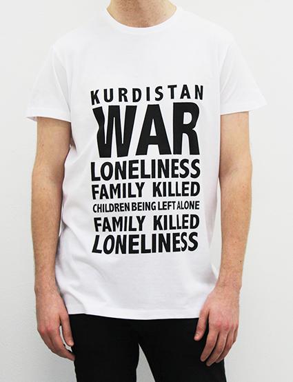 Idea Nr 18.  Screenprint on 25 t-shirts (XS-XL) and photographs on paper, 42x50cm, 2015.