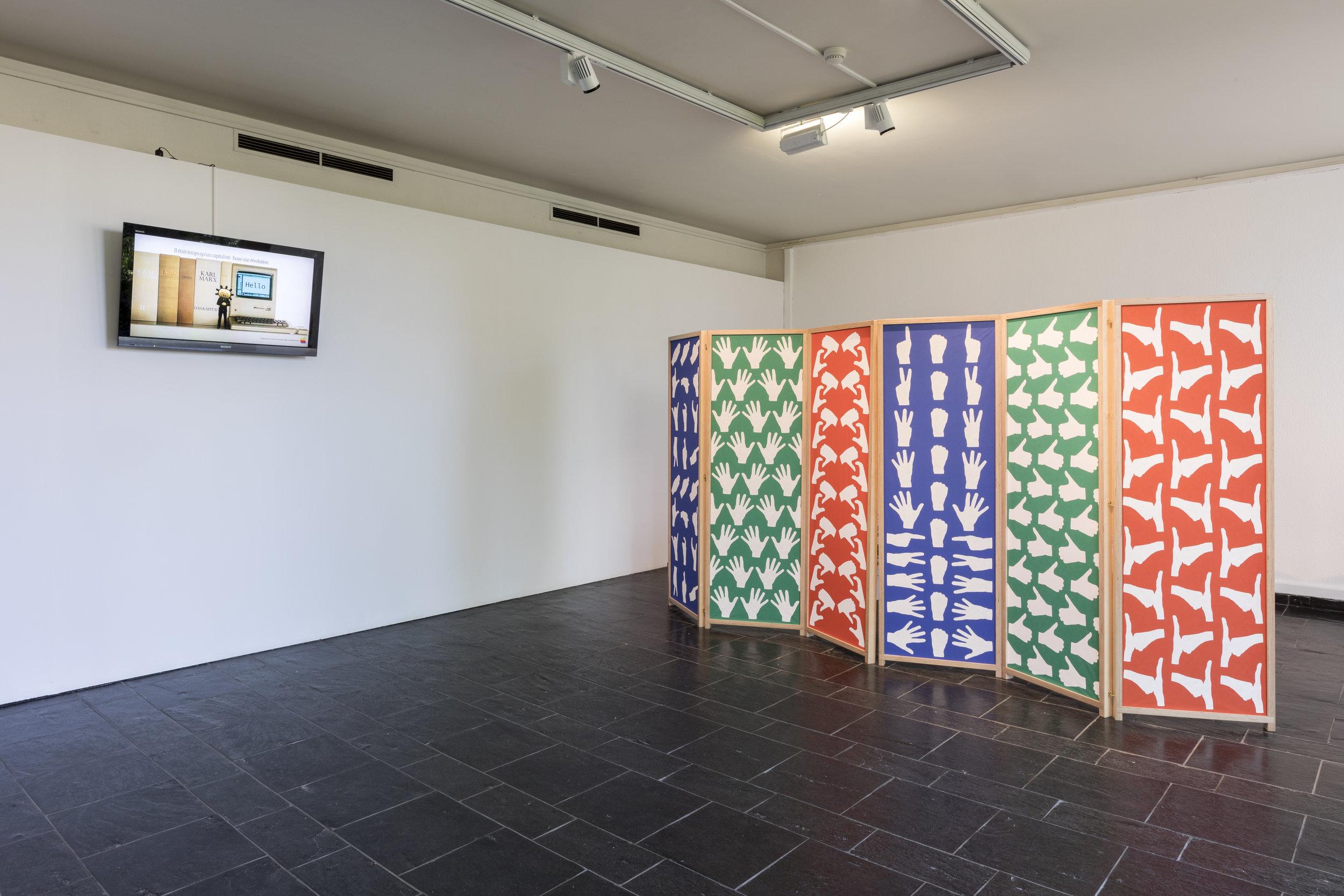 Installation view at Musée d'Ixelles, Brussels © Vincent Everaerts