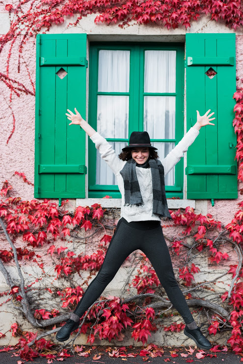 Jump in Giverny