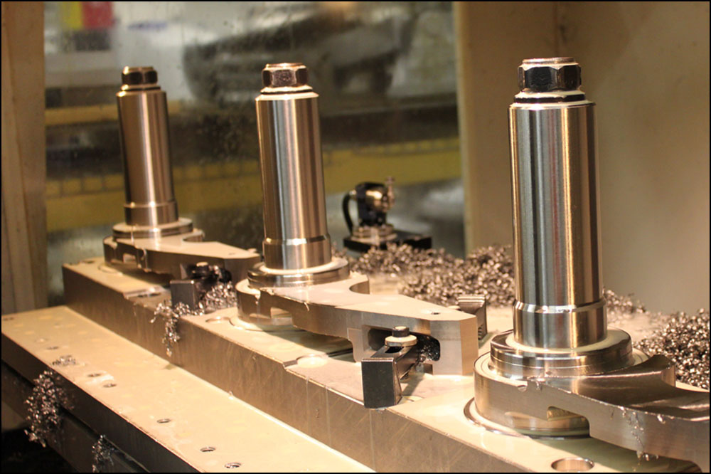 Machined Titanium components for the M777 Ultra-Lightweight Howitzer Cannon