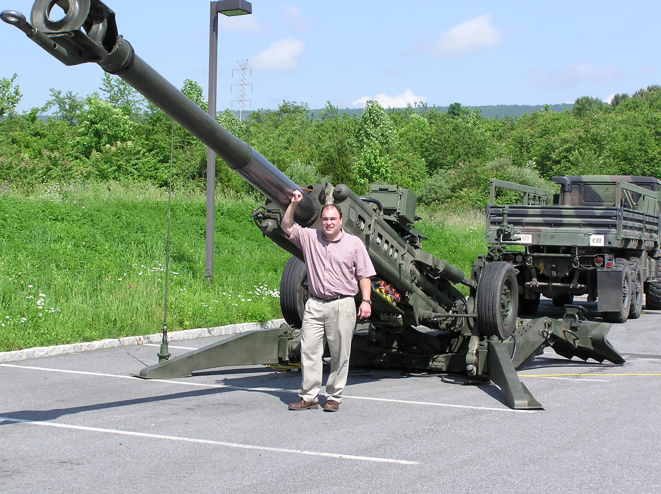 An M777 in the Imperial Machine & Tool Co. parking lot! We hosted an open house and the U.S. Army was gracious enough to bring an M777 to display for our guests.