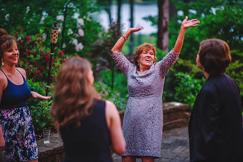 My mother-in law rocking her classic dance moves.