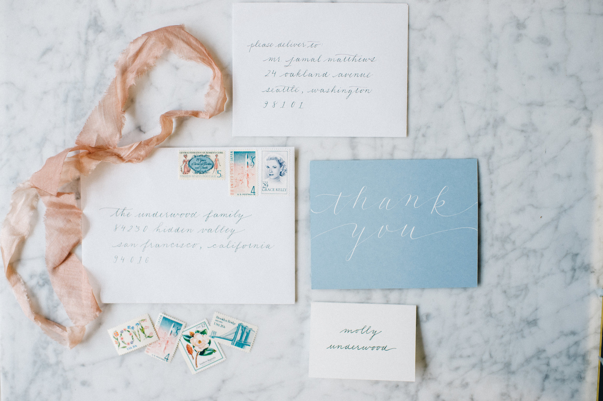 Monoline Wedding Invitation Calligraphy