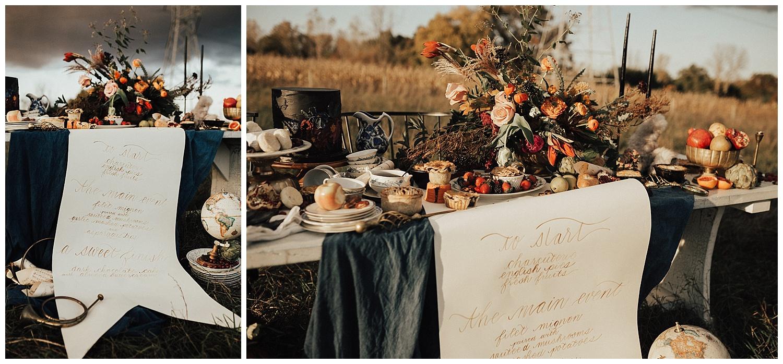 Michigan Calligrapher, Ann Arbor Calligrapher, Cornman Farms Wedding