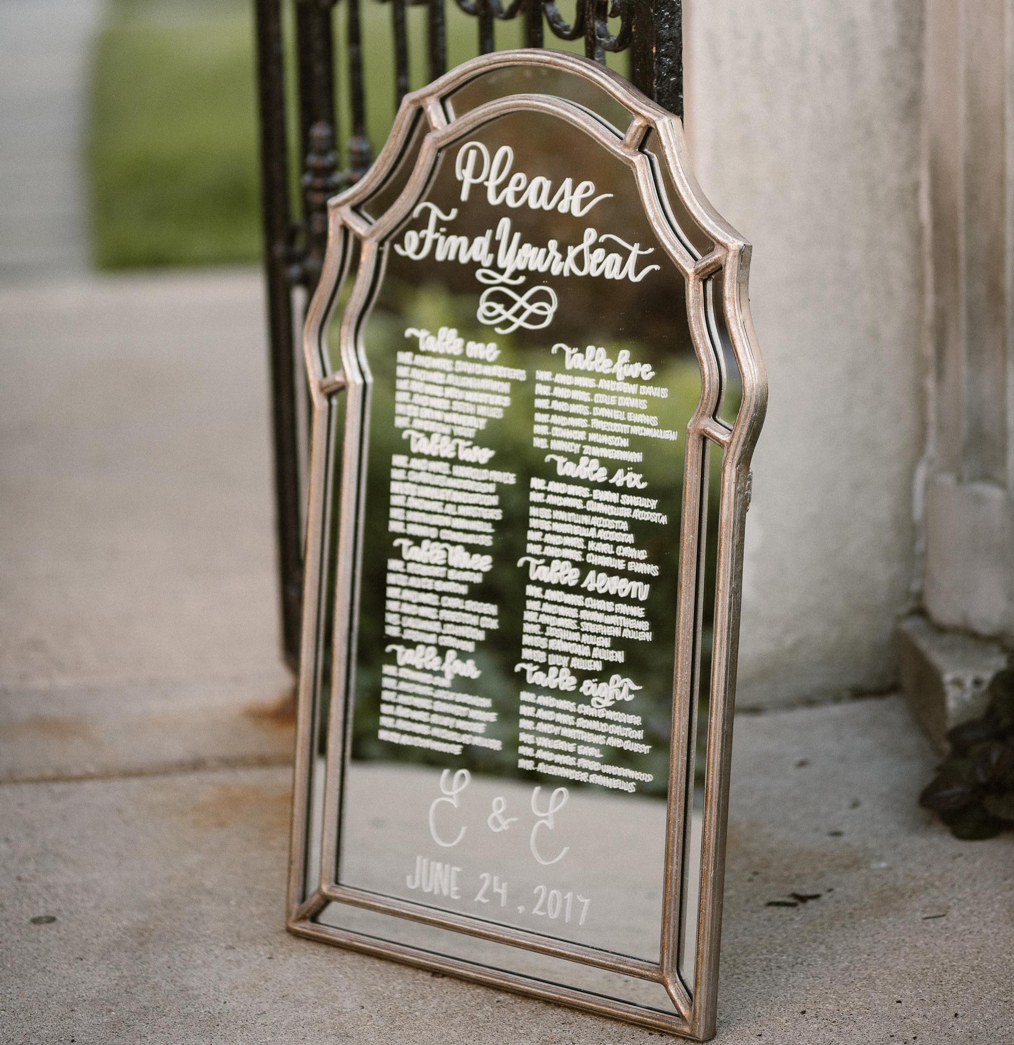 Ines & Marie Events // Mirror Sign // Grosse Pointe War Memorial