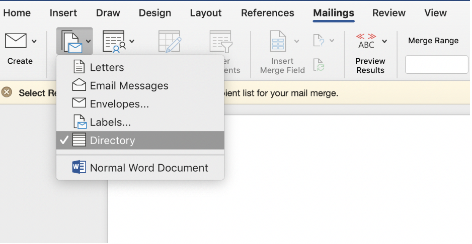 How to do a mail merge in Microsoft Word