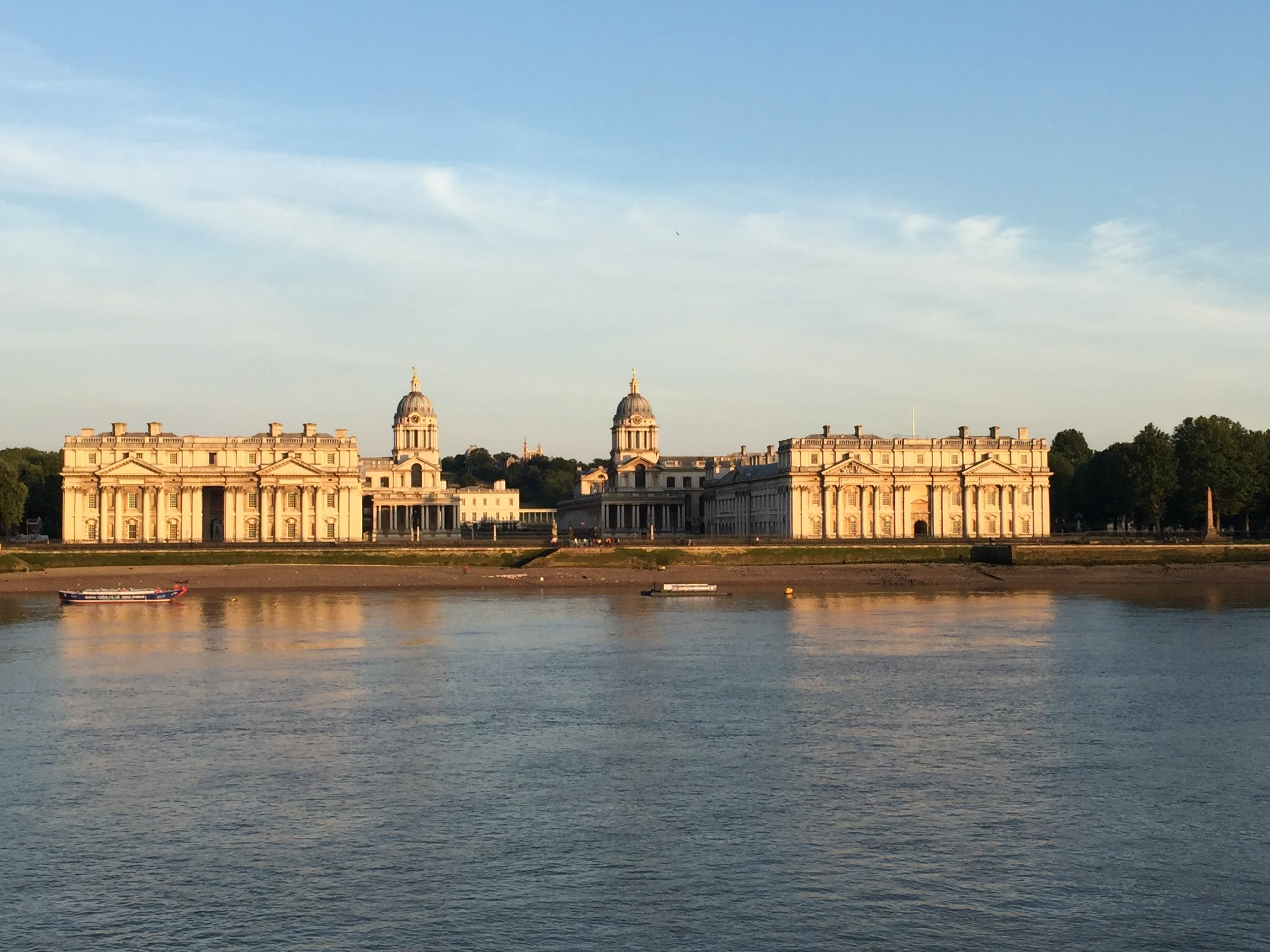 Greenwich Hospital from the Isle of Dogs