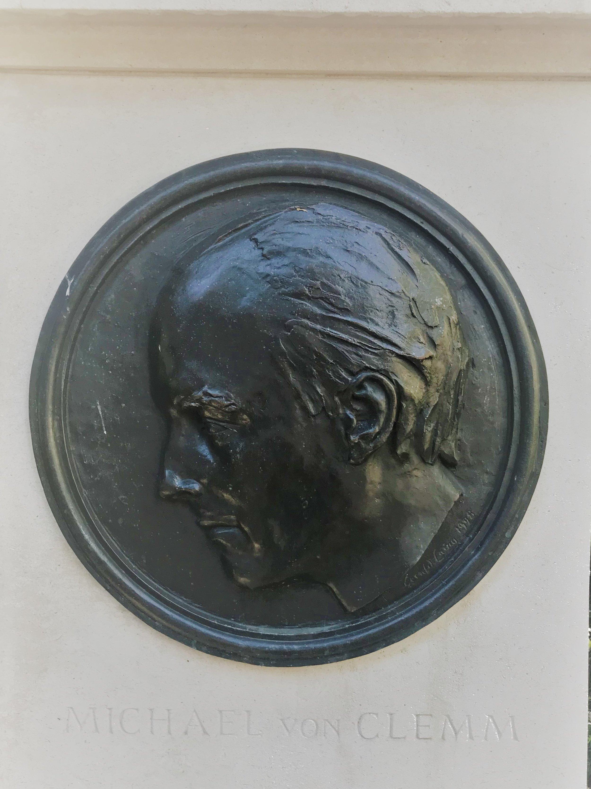 von Clemm memorial, Cabot Square