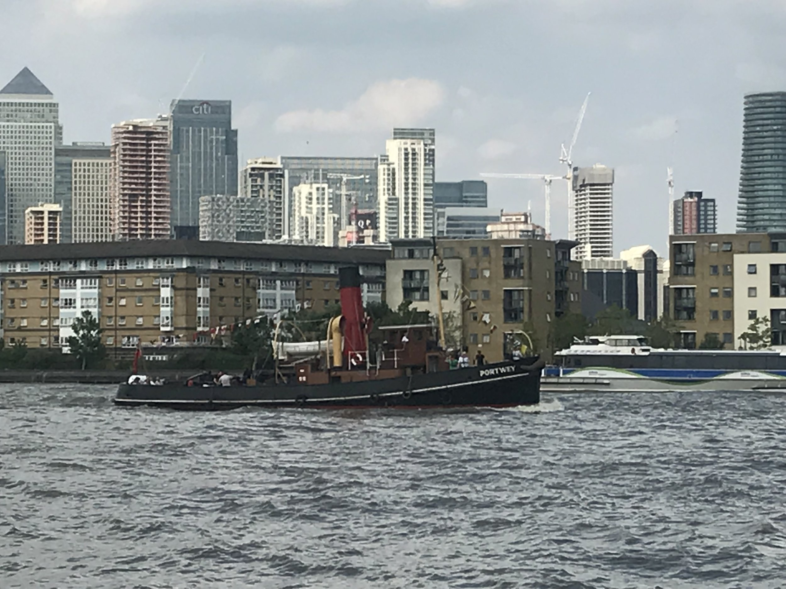 Canary Wharf from Across the Thames
