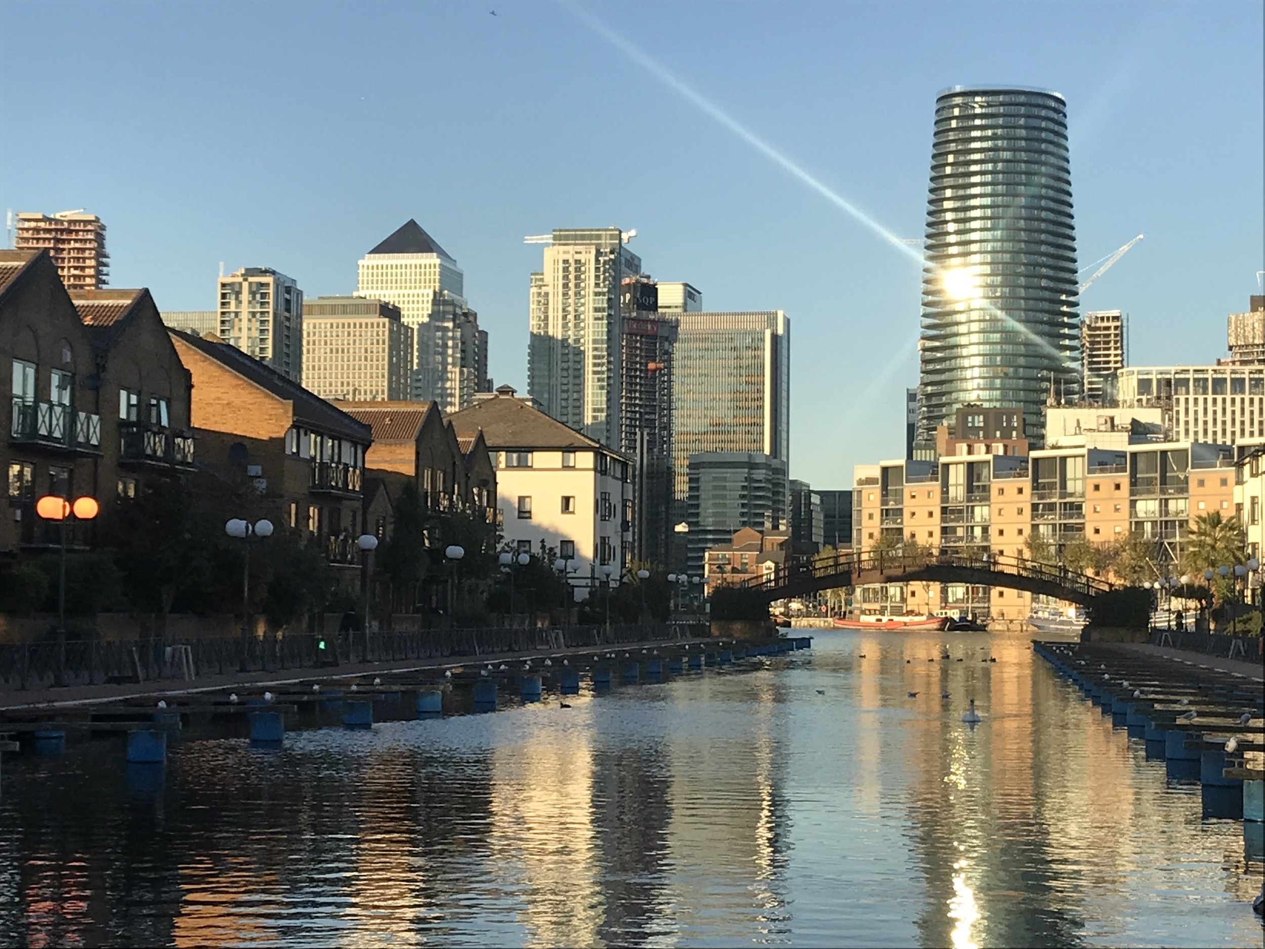 Canary Wharf from Clippers Quay