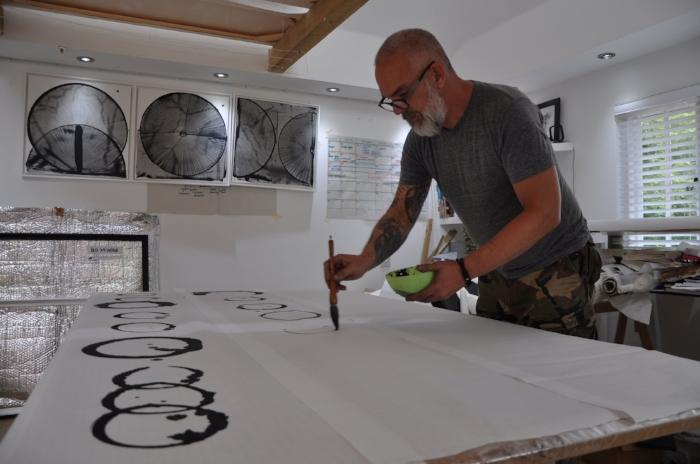Rod McIntosh in his studio