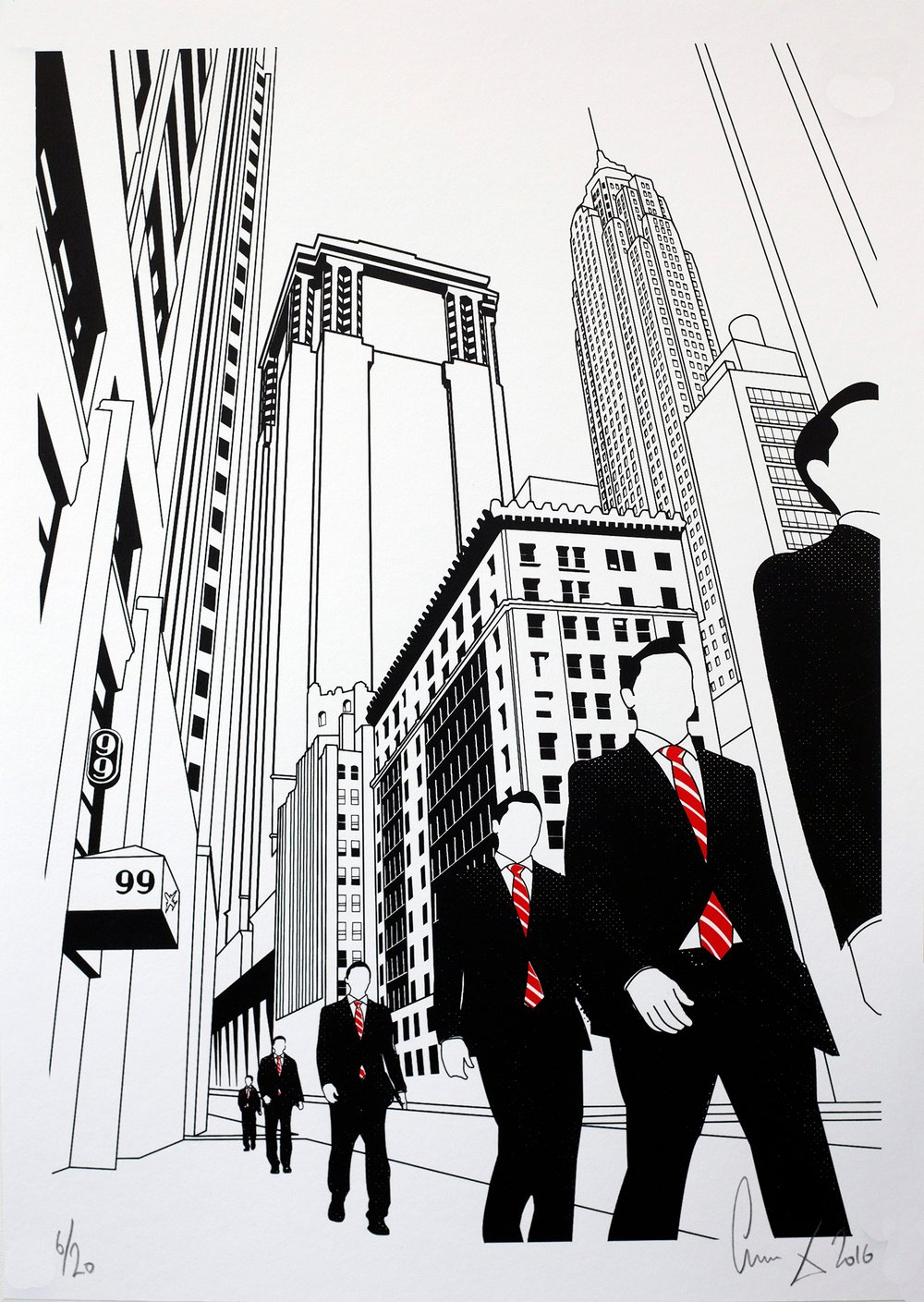Wall St by Gerry Buxton