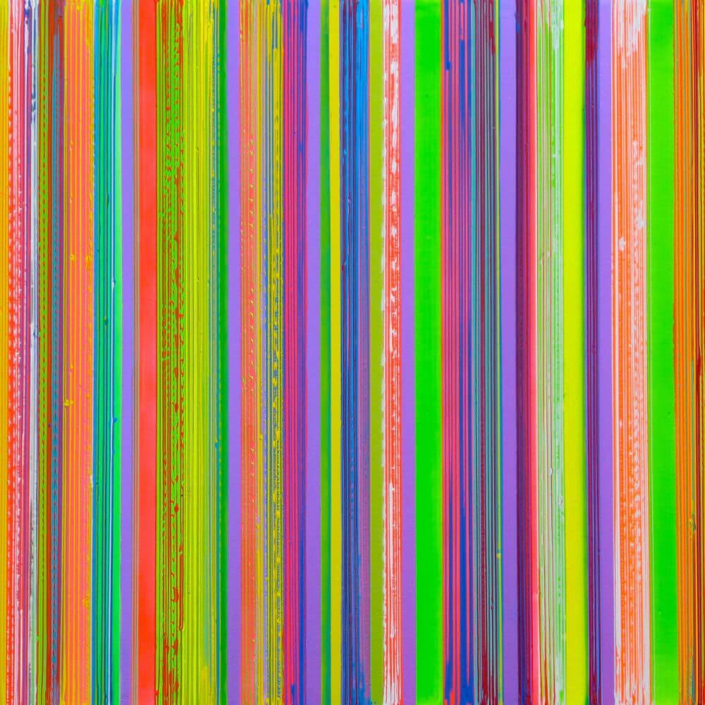 Kaleidoscope Metallic Violet Lime by Colin McCallum