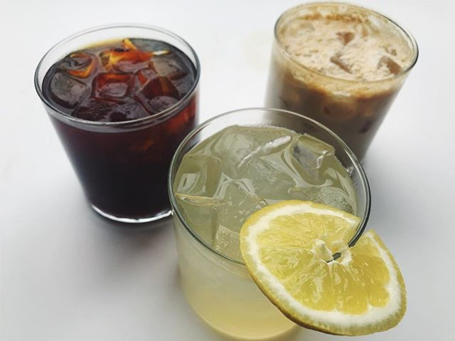Hello Missoula! Warmer weather is upon us and so is your favorite trio! Come by the shop and try The Aldrich, lemonade or our classic cold brew!