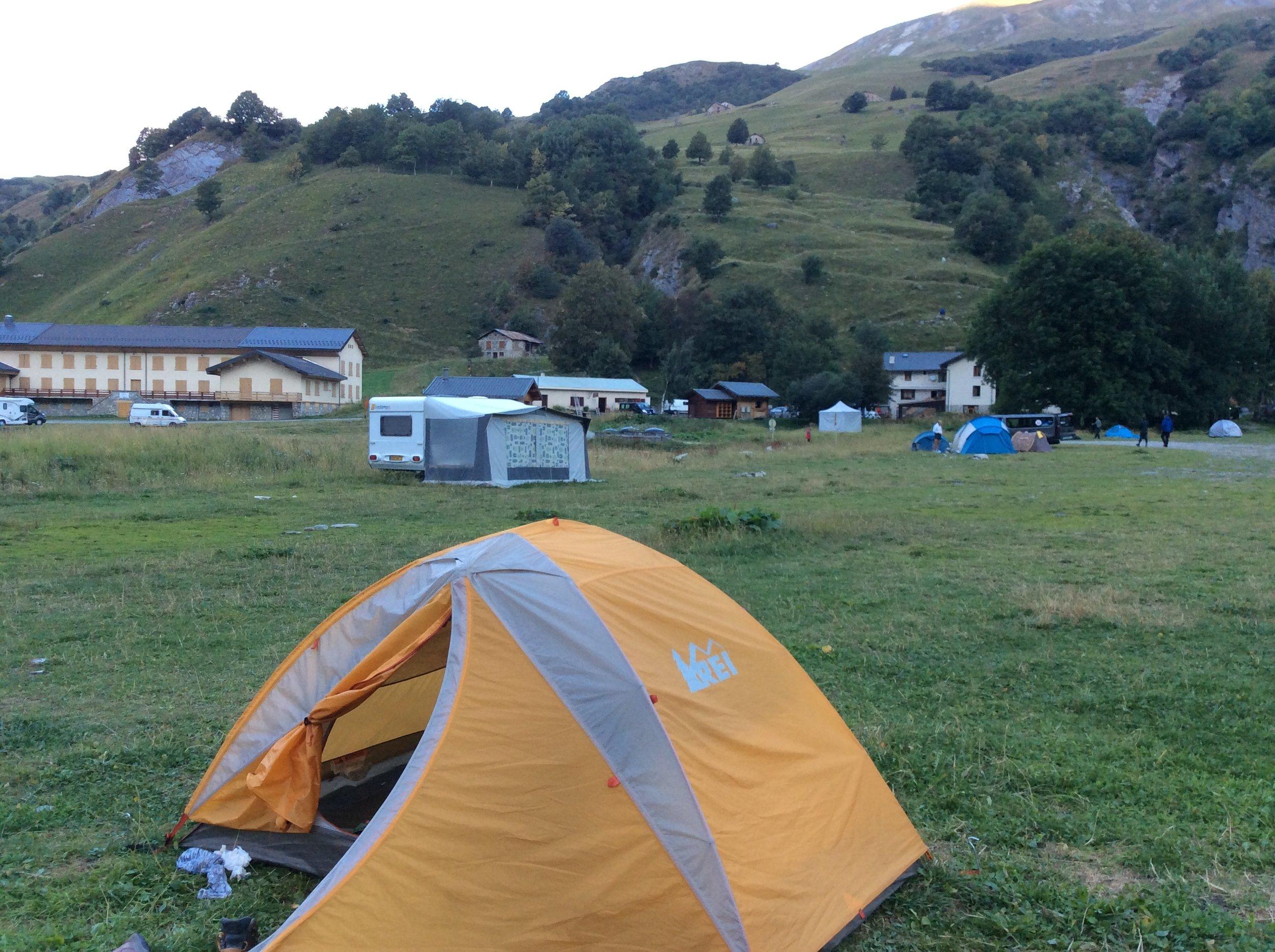 FREE campsite at Les Chapieux!