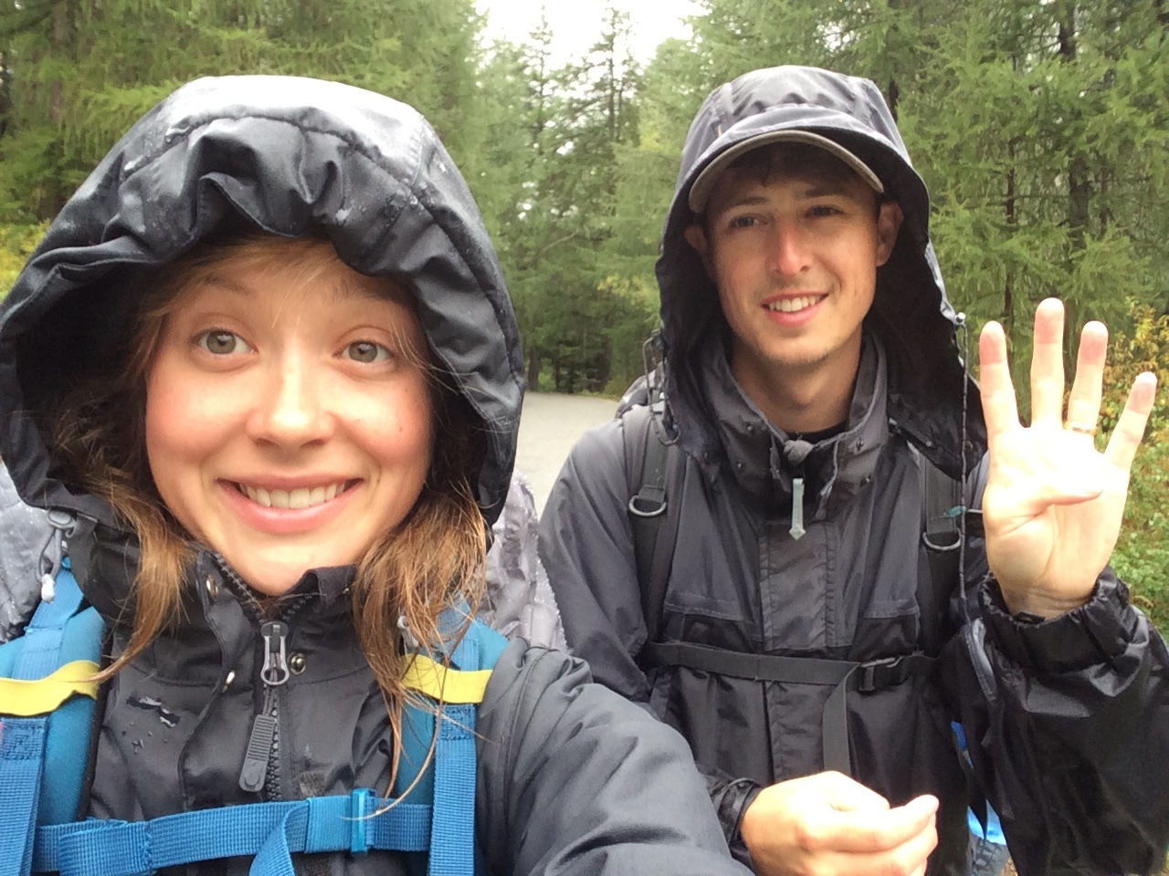 Day four in the rain!