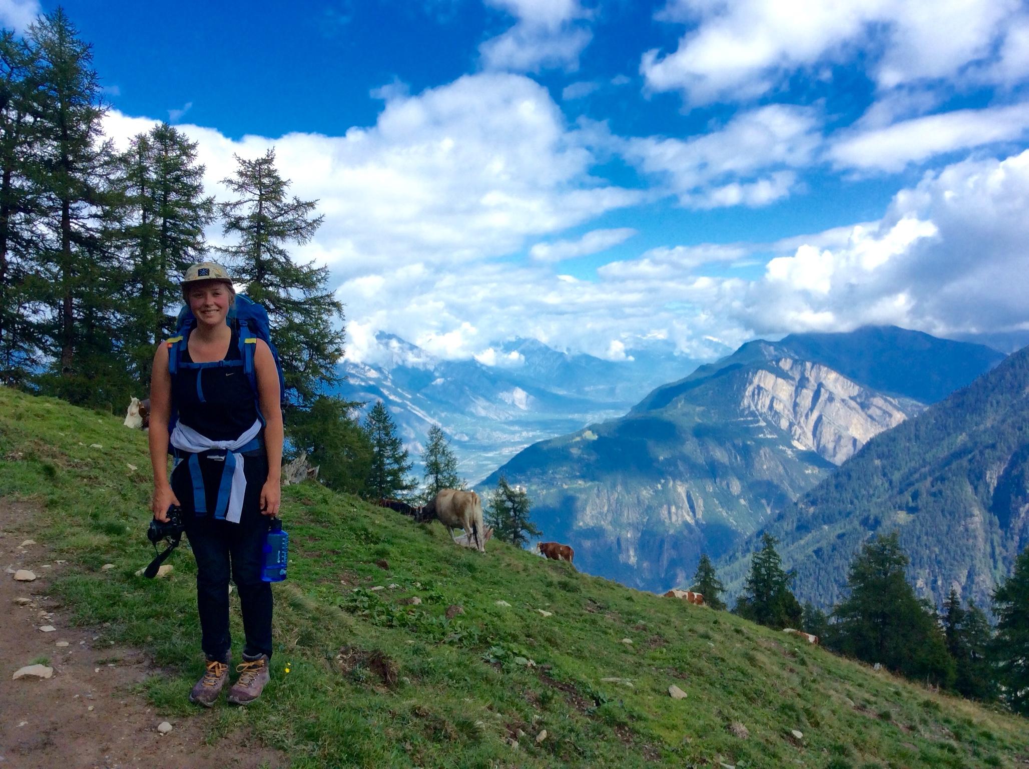 Haley near Bovine Alp