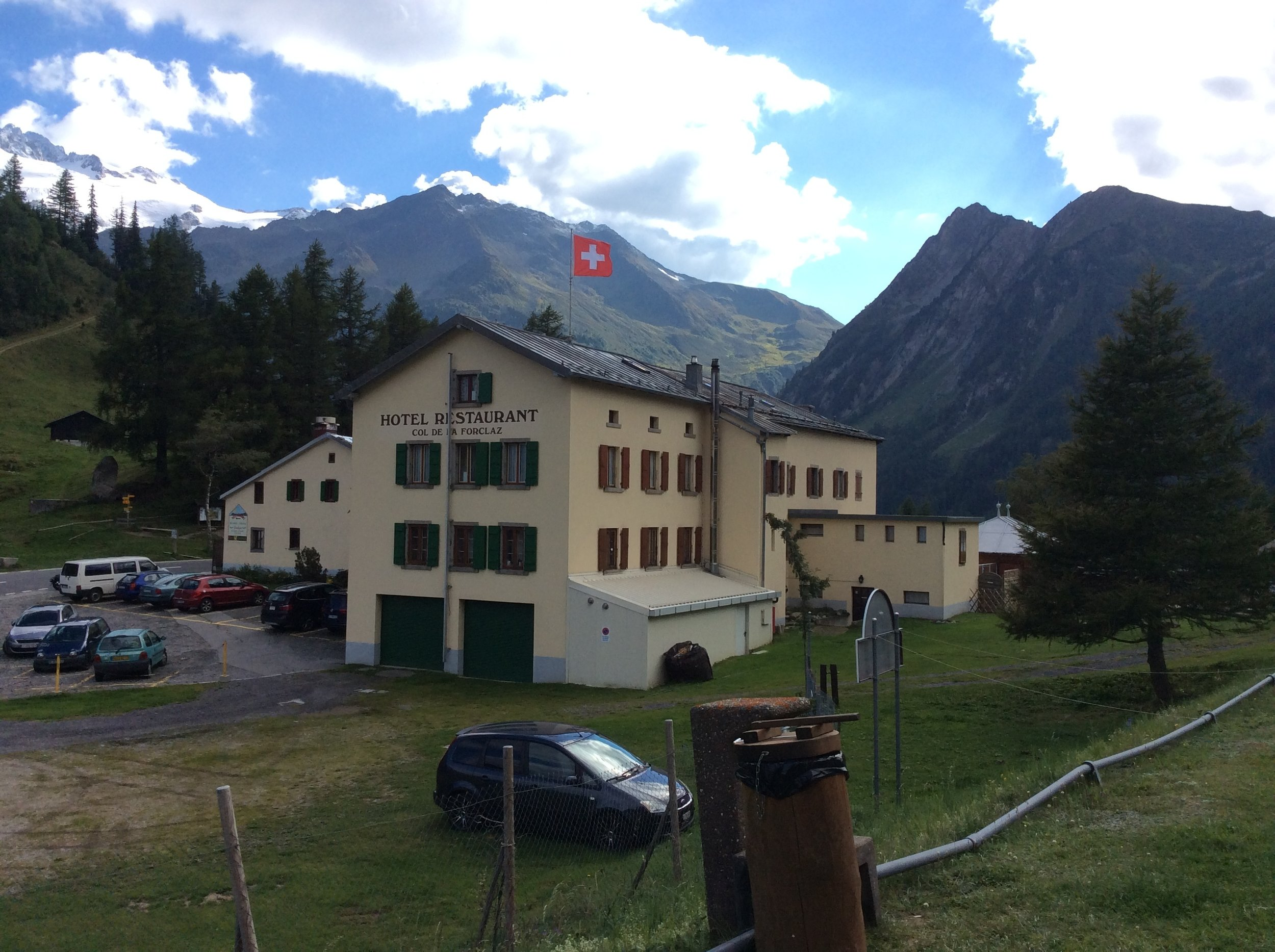 Hotel de la Forclaz from the campsite
