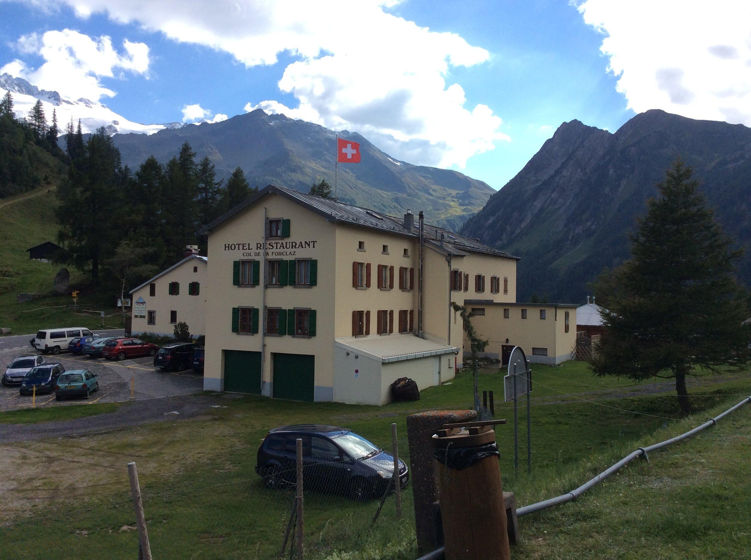 Hotel de la Forclaz from the campsite