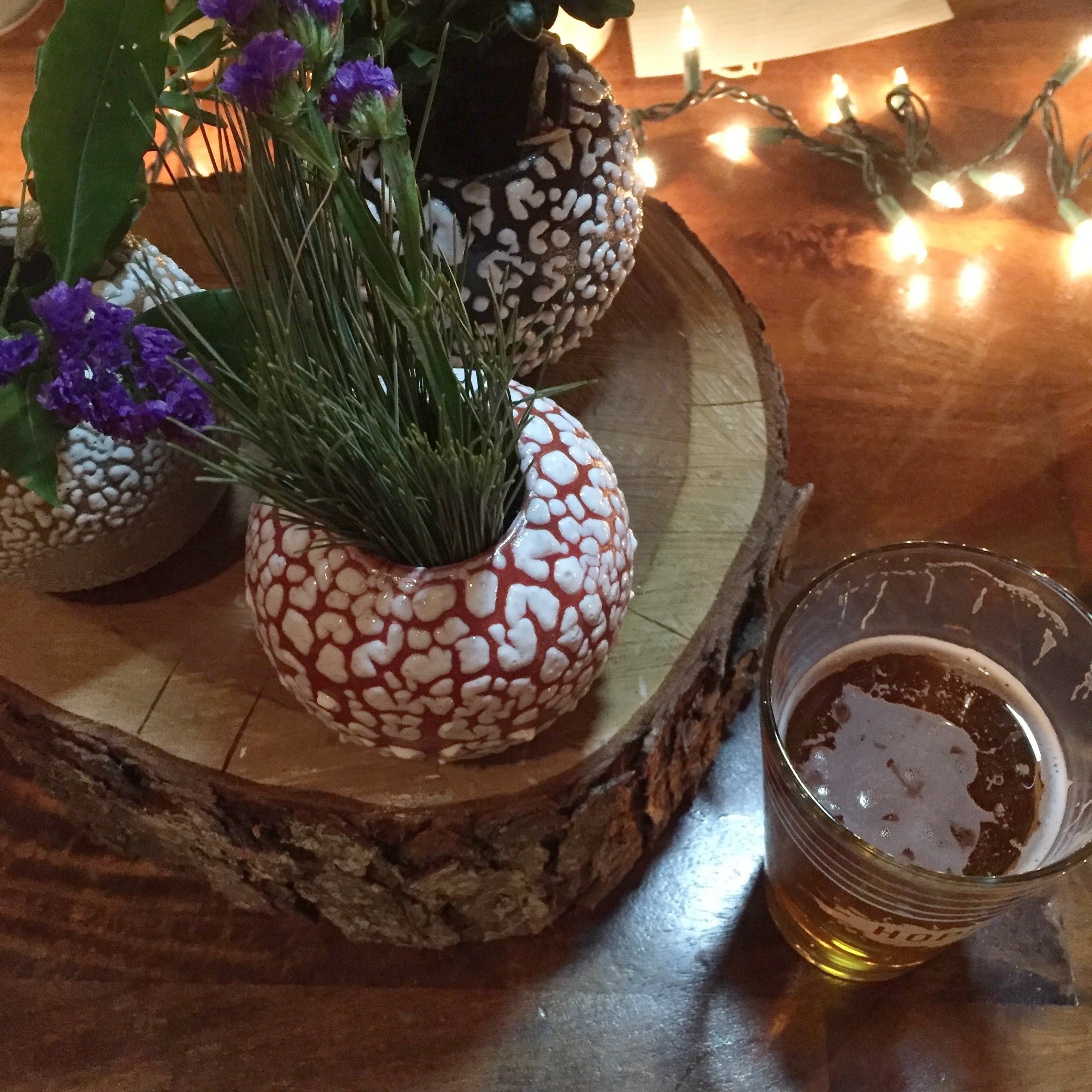 stephanie boyd works vases and H&V beer