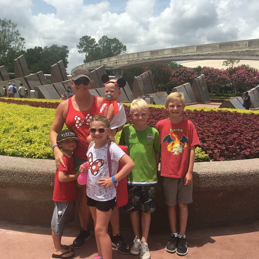 "This was our last disney trip....we've done enough ""big outings"" that my big kids know what is expected and are actually super helpful with the littler kids. It is still mind blowingly exhausting, but again, I look back at these photos and realize its all worth it....cue the hallmark music!"