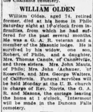 Pvt. William Olden, Co. E, 97th OH Infantry, USA